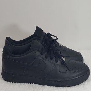 Nike Air Force 1 Size 7Y Black Womens Kids